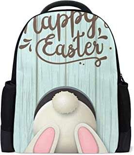 Backpack Happy Easter Eggs Floral Flowers Rabbit Personalized Shoulders Bag Classic Lightweight Daypack for Men/Women/Students School