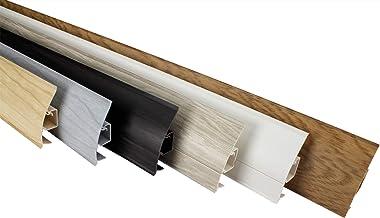 LEMAL Plinten patroonstukken, PVC 65x23mm - plinten met kabelgoot - (8651 houtlook eiken) kabel plint kanaal