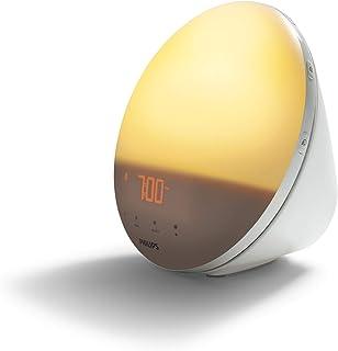 Philips Wake-up Light - Vakna naturligt med ljus - Simulerad soluppgång - 7 naturliga väckningsljud - 20 inställningar för...