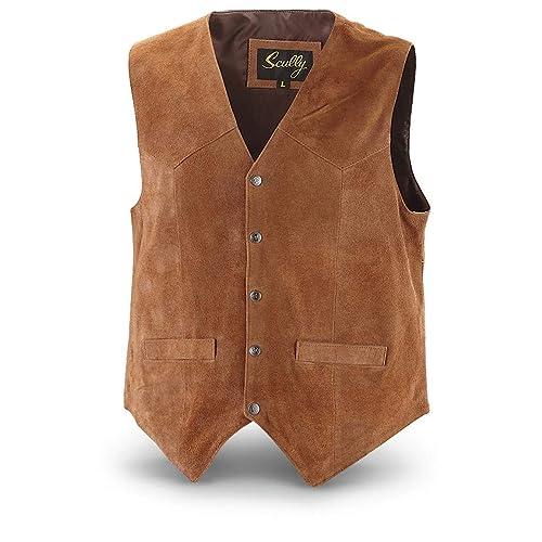 4a67ceff18af Scully Men s Cowhide Suede Vest
