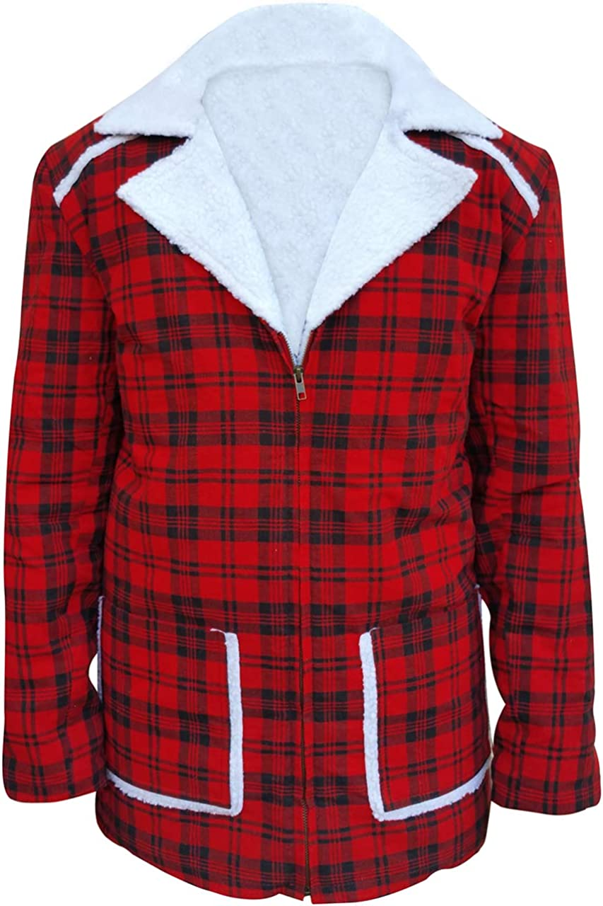 Max 68% OFF Red Ryan Reynolds Opening large release sale Deadpool Style Fur Coat Jacket