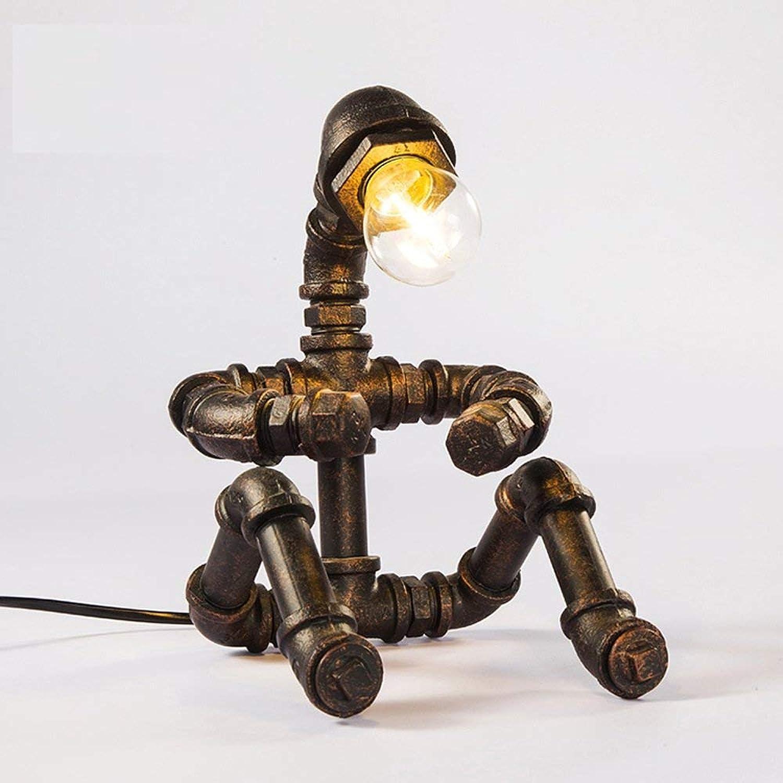 Zhang Yan ZYY Loft Industrial Style Retro Vintage Schmiedeeisen Schreibtischlampe Robot Theme Cafe Bar Tischlampe Studie Kreative Tischleuchte