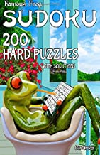 Famous Frog Sudoku 200 Hard Puzzles With Solutions: A Take a Break Series Pocket Size Book (Volume 19)