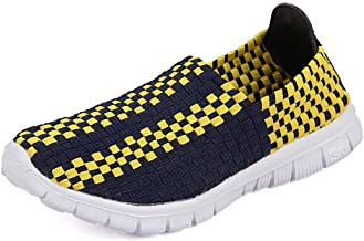 Best Walking Shoes For Men Women And Men's Athletic Shoes Grid Pattern Slip On Splice Vamp Leisure Fashion Sneaker Male Breathable Comfortable Casual