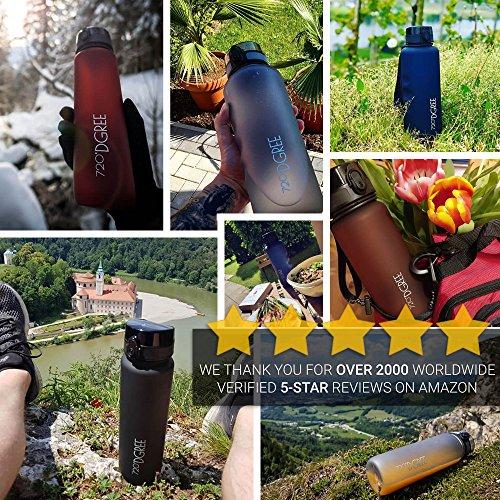 """720°DGREE Trinkflasche """"uberBottle"""" – 1 Liter, 1000ml, Schwarz   Neuartige Tritan Wasser-Flasche   Water Bottle BPA Frei   Ideale Sportflasche für Kinder, Fitness, Fahrrad, Sport, Fussball - 3"""