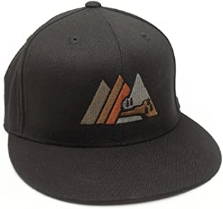 Retro Mountain Hat - Men s Fitted   Snapback Options Available 93c9a55b9b46