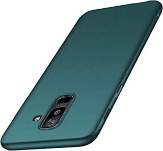 for Samsung Galaxy A6 Plus (2018) Case, ACMBO [Sand Gravel Series] Ultra Thin Slim Fit [Anti-Drop] Shockproof Hard Plastic Phone Cases Cover Compatible for Galaxy A6+ 6.0 inch, Gravel Green