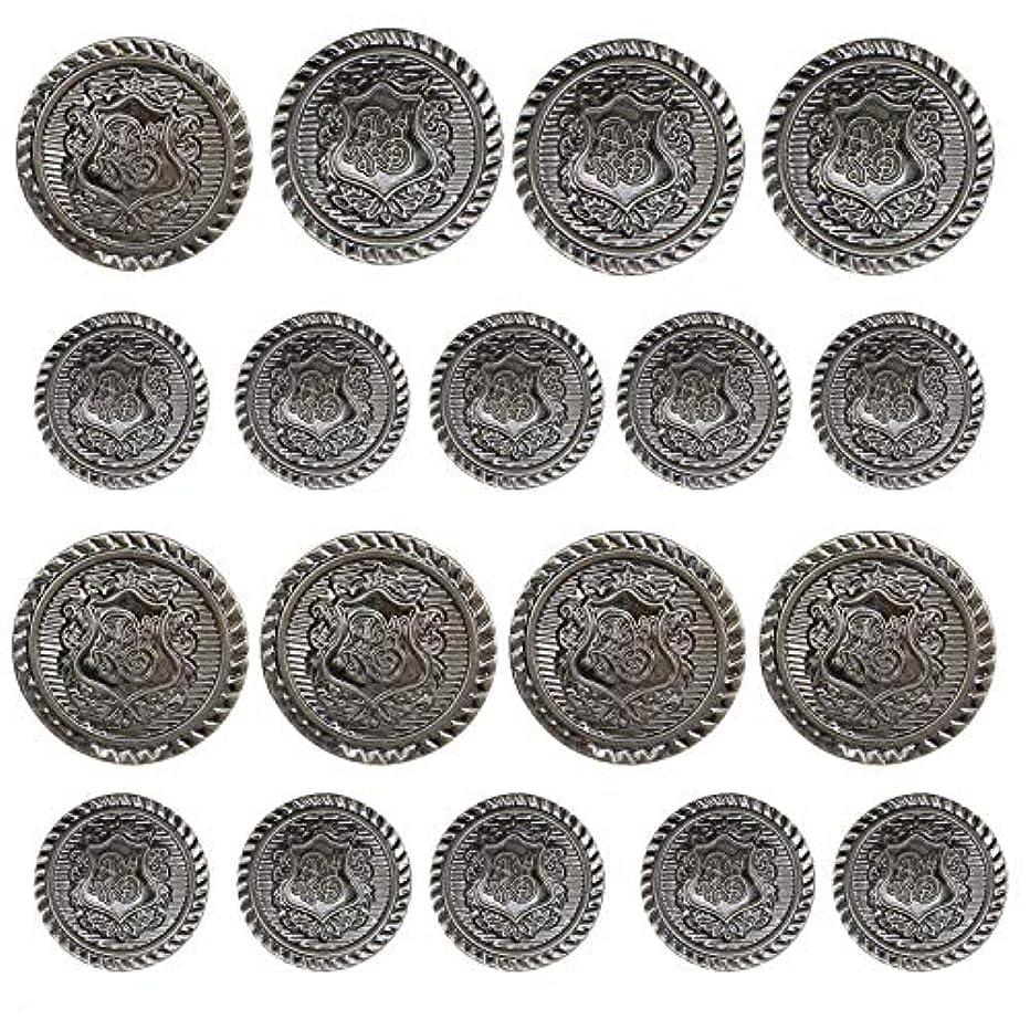 Monrocco 40 Piece Antiqued Black Metal Blazer Button