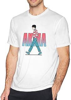 メンズ シャツ アキラ 半袖 無地 3Dプリント Tee クルーネック 薄手 ティシャツ シンプル 春 夏 秋 通勤 通学 人気 上着