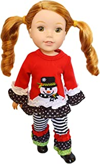 Brittany's Jolly Snowman Outfit Compatible with Wellie Wisher Dolls, Glitter Girl Dolls, and Hearts/Hearts- 14 Inch Doll Clothes
