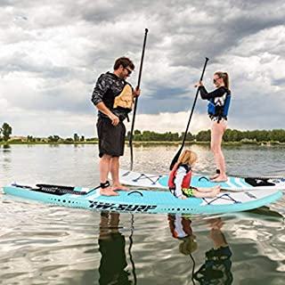 Landscap 10' Inflatable Stand Up Paddle Board Non-Slip Deck Surfboard Adjustable Fin Paddle Board with Hand Pump,Backpack,...