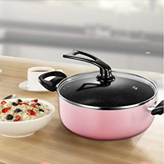 CS-DG Soup Pot - Non-stick Pot Double-eared Rice Stone Soup Pot Thickened Double Bottom Pot Home Cooker Pot Cooker Gas Coo...