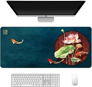 大型マウスパッド ゲーミング 防水 900*400*3mm デスクマット PCマット 超大型 ゲーミングマウスパッド おしゃれ 防水 耐久性 滑り止め オフィス ゲーム (1)