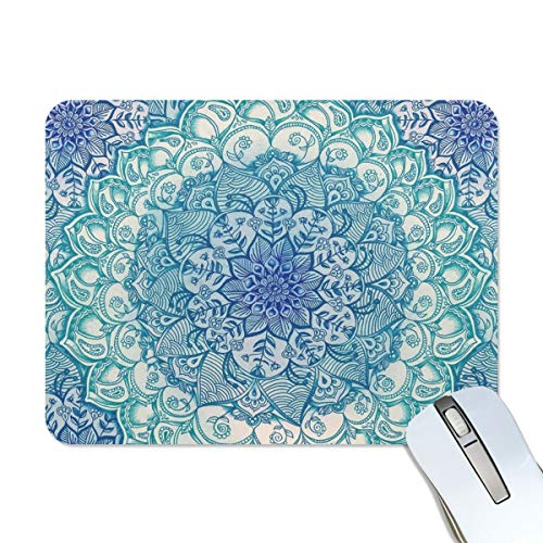 Mandala Flowers Pattern Mouse pad - Almond Blossoms Mousepad Non-Slip Rubber Gaming MousePads Rectangle Mouse Pads for Computers 9.8Inchx7.9Inch