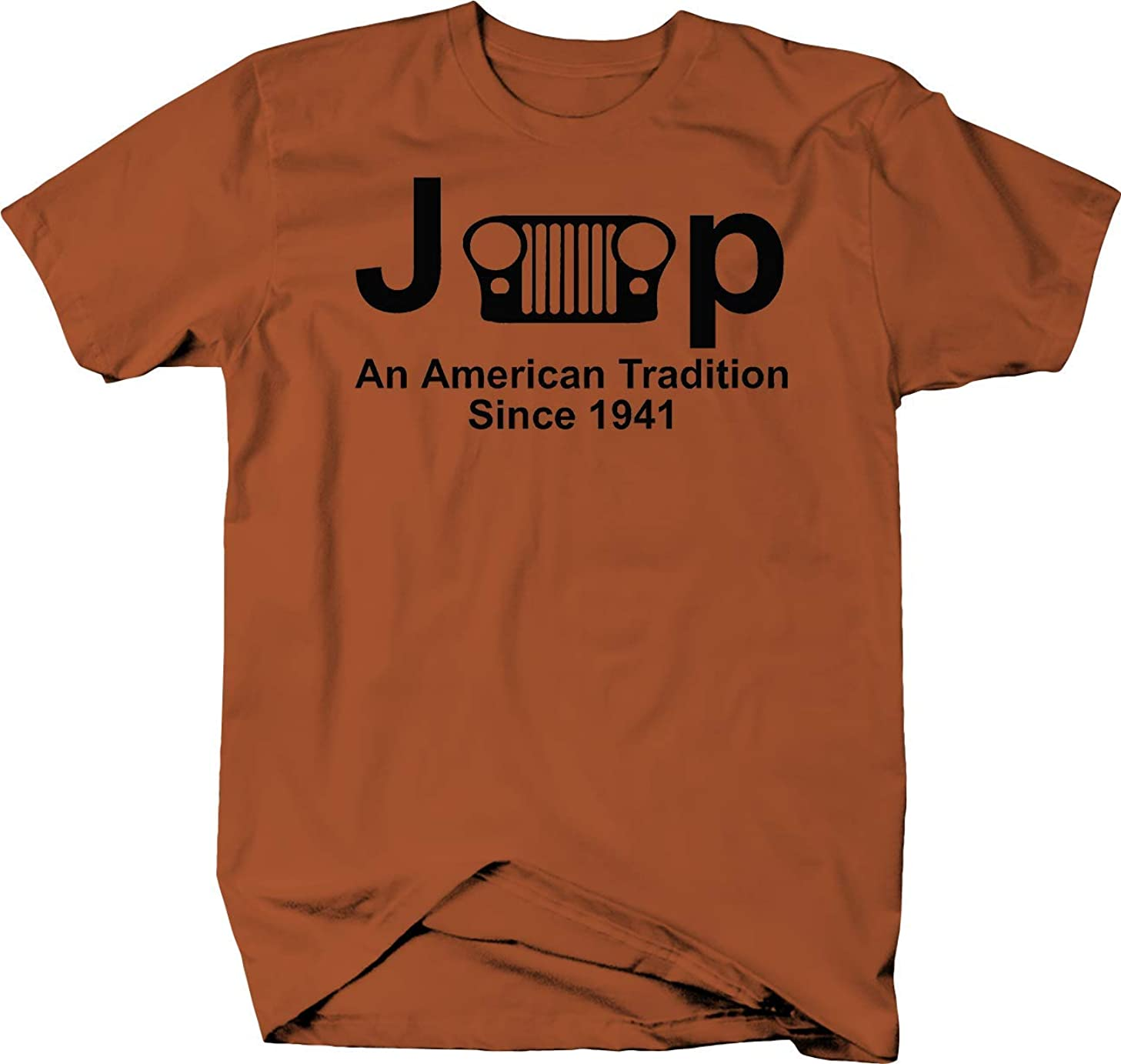 Jeep Classic Grill Wrangler American Tradition Since 1941 Color Tshirt