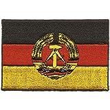 AUFNÄHER DDR-Flagge - 04380 - Gr. 9,5cm x 6,5cm - Patches Stick Applikation