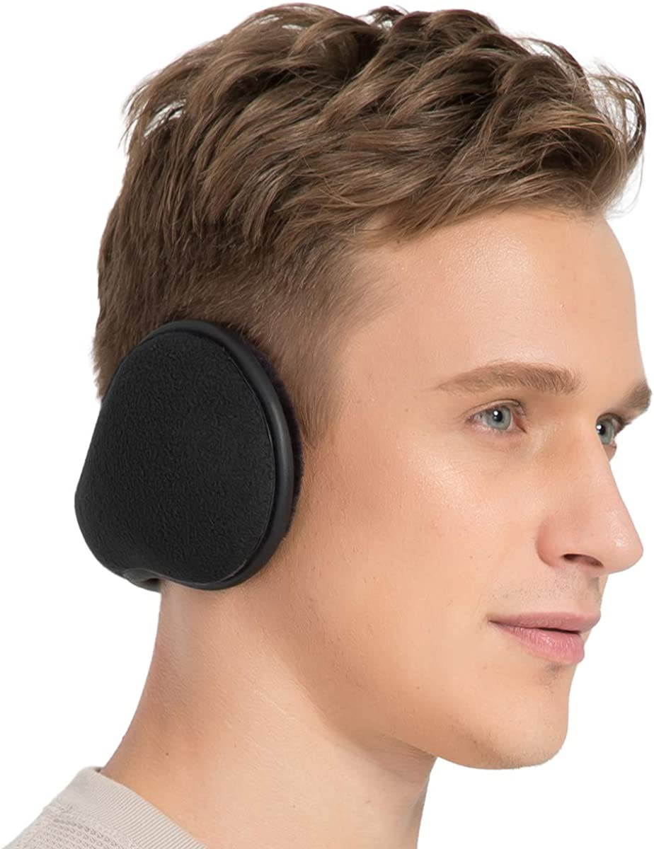 TALONITE Winter Ear Muffs for Men & Women Foldable Fleece Ear Warmers - Pefer for Outdoor Skiing - Behind the Head Earmuffs…