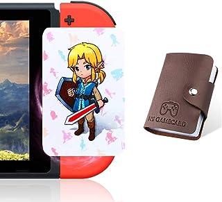 Boshile Botw - Schede NFC per la leggenda di Zelda Breath of The Wild Switch/Wii U con custodia in cristallo Bianco 24 pez...