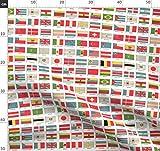 Holli Zollinger, Flagge, Länder, Flaggen, Olympia Stoffe - Persönlich Bedruckt von Spoonflower - Design von Aftermyart Gedruckt auf Baumwoll Popeline