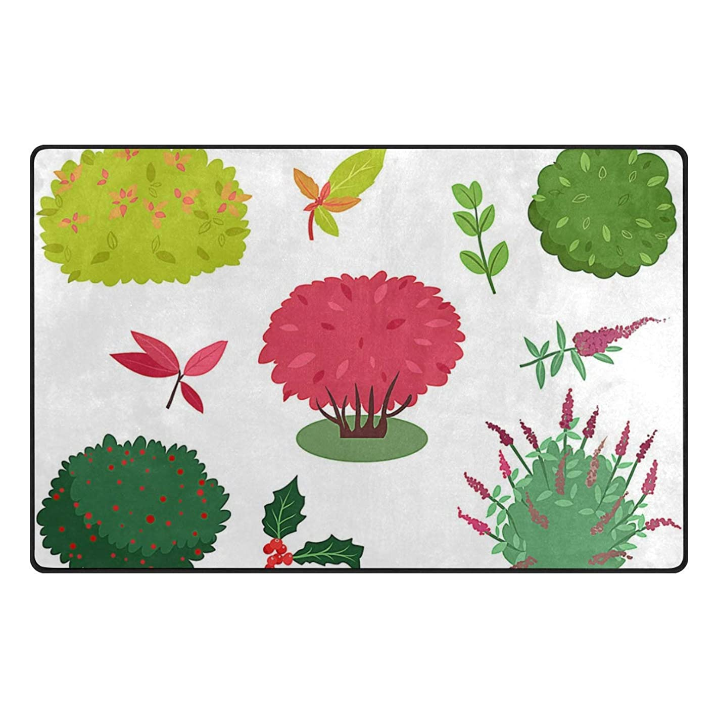 pengyong Bush Branches Non-Slip Floor Mat Home Decor Door Carpet Entry Rug Door Mat for Outdoor/Indoor Uses