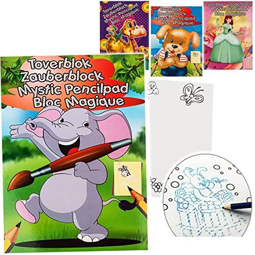 alles-meine.de GmbH Malbuch / Malblock - A5 - Zauberpapier - Zauberblock - Jungen - Zaubermalblock Zaubermalbuch - für Stifte & Bleistift - Bastelbuch - große & kleine Motive - A..
