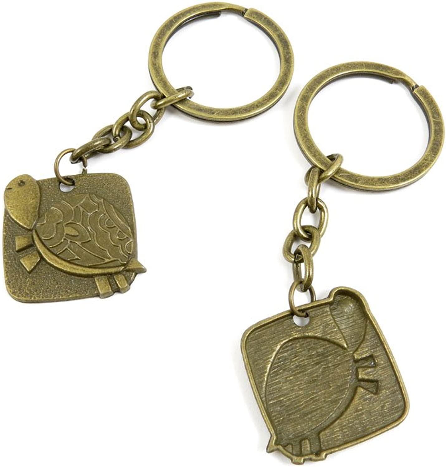 150 Pieces Fashion Jewelry Keyring Keychain Door Car Key Tag Ring Chain Supplier Supply Wholesale Bulk Lots B7IZ6 Turtle Tortoise Sign Tag