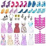 Miotlsy 50PCS Ropa y Accesorios para 11.5 Pulgadas Muñecas, Vestidos de Moda, Zapatos, Zapatos, Joyas Pendientes Collar Accesorios, para Muñeca de Las Muchachas