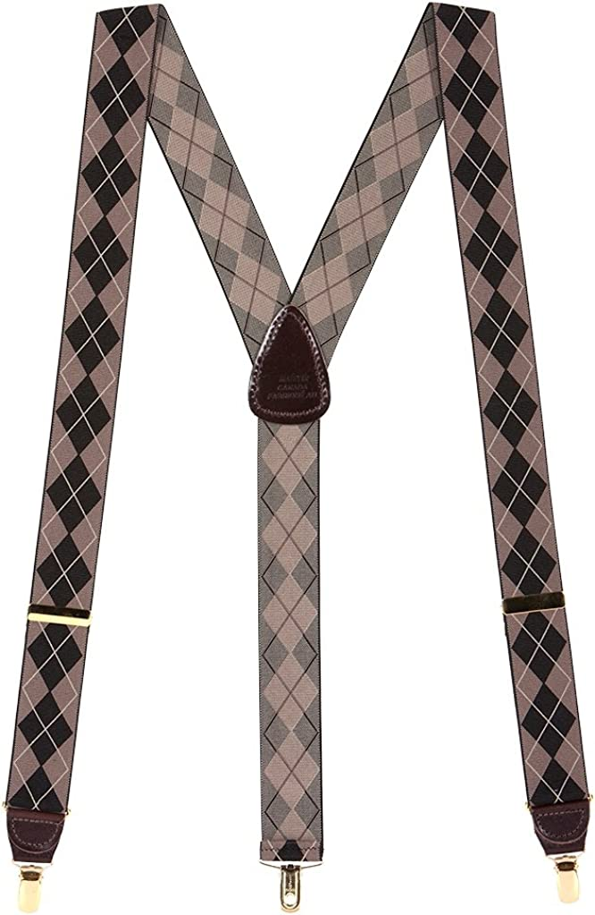 H. A. Sheldon Men's Popular brand Argyle Colors Suspenders 4 Dressy Clip-End Popular products