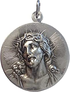 The Holy Face of Jesus Christ Medal - Ecce Homo (Behold the Man) - Real Italian Masterpiece BIg Size - 32 mm - Made in HIGH RELIEF