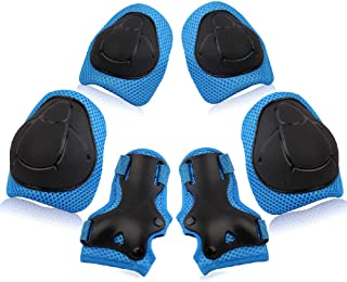 Wemfg Kids Protective Gear Set Knee Pads for Kids 3-14 Years Toddler Knee and Elbow Pads..