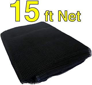 Trampoline Replacement Nets | Sizes 8 ft thru 15 ft | Net Only | Poles and Top Ring Not Included (15 Foot Net, 15' | Fits 3 Arch | Sleeves)