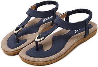 f95bebcb1ac78 SIKETU Les Femmes De La Mode De La Mode BohèMe Plat Grande Taille Casual  Sandales Chaussures