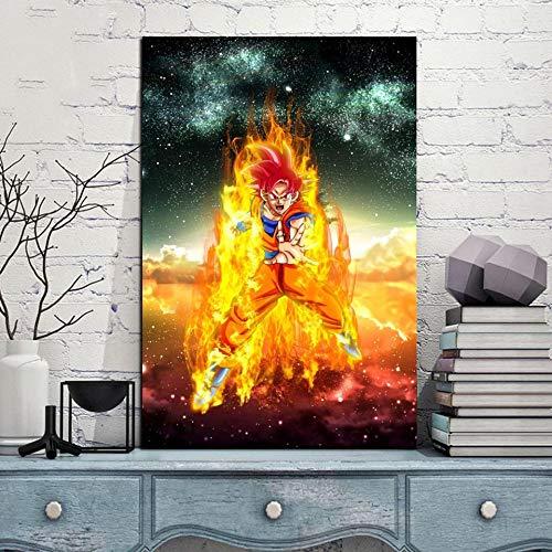 JNZART Dekoration Leinwand Malerei Bilder 1 Teile/los Japanischen Anime Wandkunstwerke Drucke Modulare Poster Für Schlafzimmer C 30x45 cm