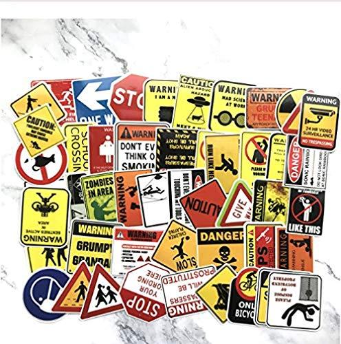 50 Stks Banning Tekenen Stickers Waarschuwing Gevaar Herinnering Waterdichte Sticker Aan Auto Laptop Koffer Motorfiets Snowboard