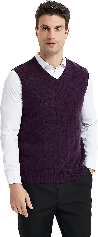 Coursanlouis Custom Own Men's 100% Pure Cashmere Sweater Classic Pullover Vest 4XL 2XS