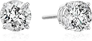 AGS Certified Brilliant-Cut Diamond Classic 4-Prong Screw...