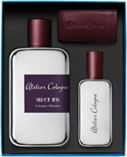 Atelier Cologne Silver Iris Travel Set for Men Cologne Absolu 200ml + 30ml + Leather Case