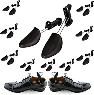 Plastic Shoe Trees for Men 10 Pairs - Men Shoe Trees for Sneakers - Travel Shoe Trees for Men Plastic - Adjustable Shoe Tr...