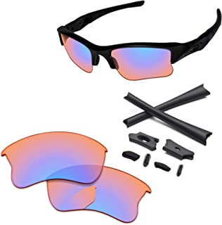 PapaViva Lenses Replacement & Rubber Kits for Oakley Flak Jacket XLJ