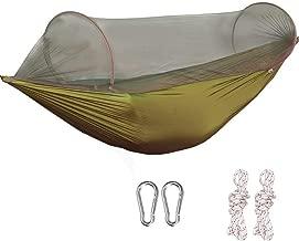 G4Free Portable & Foldable Camping Hammock Net Hammock Tent Capacity 440 lbs Outdoor & Indoor Backyard Hiking Backpacking Tree Hammocks (110x50 inch)