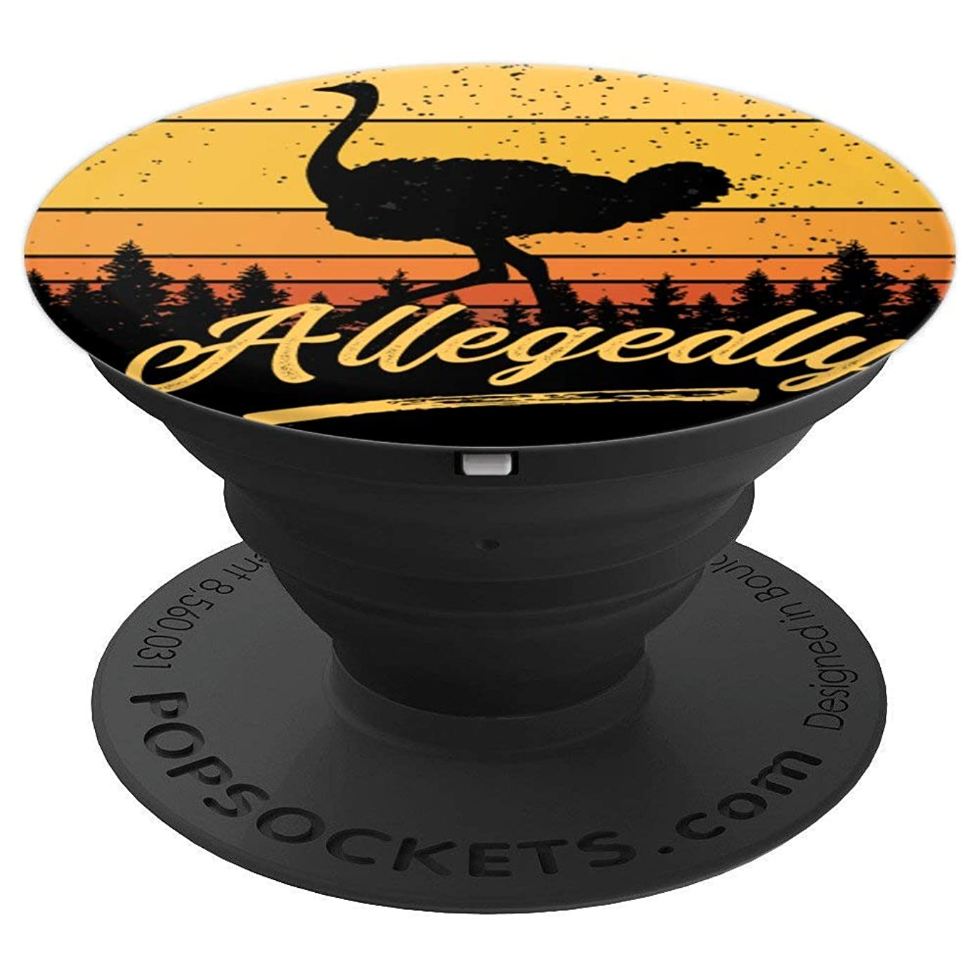 Letterkenny Allegedly Ostrich Flightless Bird Retro Sunset - PopSockets Grip and Stand for Phones and Tablets