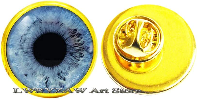Bargain sale Birthday Gift Eye Brooch Max 88% OFF Blue Eyes Pin her Gi Eyeball for