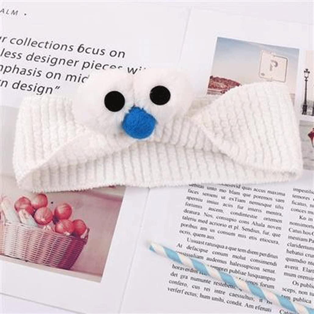 Parent-child Sesame Street Big Eyes Knitted Hairband Cartoon Children's Hairband Hair Band Female Face Wash Hair Accessories (Color : B)
