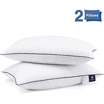 SUMITU Bed Pillows for Sleeping 2 Pack Queen Size 20 x 30 Inches, Hypoallergenic Pillow for Side and Back Sleeper, Soft Hotel Collection Gel Pillows Set of 2, Down Alternative Cooling Pillow