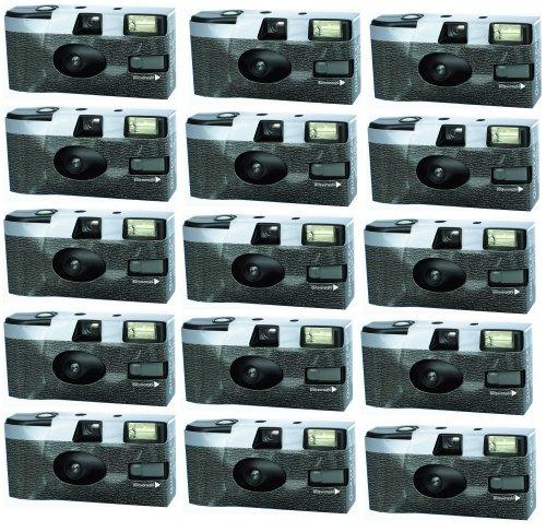 FV-Sonderleistung 1EFLK71-15 Klassik Kameralook Einwegkamera mit Blitz (15-er Pack)