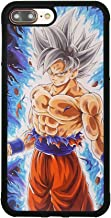 Dragon Ball Super Z Son Goku Ultra Instinct Japanese Anime Case for iPhone 7 Plus / 8 Plus (5.5 Inch) Comic TPU Silicone Rubber Gel Edge + PC Bumper Case Skin Protective Phone Full Protection Cover