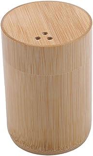 BRTSA Porte-Cure-Dents en Bambou boîtes de Coton-Tige boîtes de Voyage Portable Cure-Dents Mini réservoir de Stockage de d...