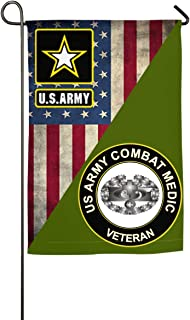 "NPZBHoney30X45 US Army Combat Medic Veteran Classic Garden Flag Decorative Flags for Outdoors - 12"" X 18"" 