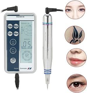 ZJchao Digital Permanent Tattoo Eyebrow Lip Eye Liner Pen Makeup Tattoo Machine Device with Tool Head