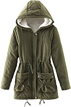 ACE SHOCK Women Plus Size Winter Coats Faux Fur Lined Parka Cotton Padded Jacket